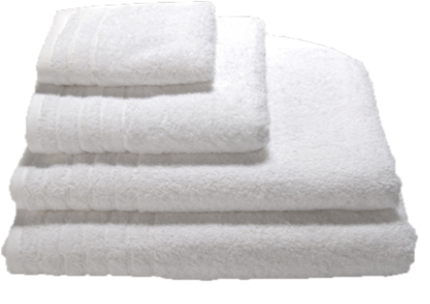 various sizes of bath towels